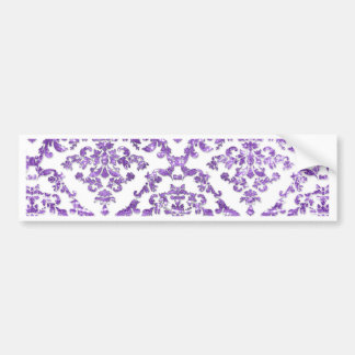 Bold Vintage Purple Damask Pattern Gifts Bumper Sticker