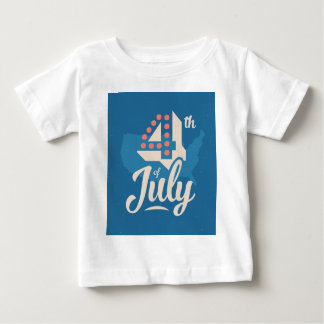 Bold vintage text July 4th independence red blue Baby T-Shirt