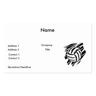 bold volleyball graphic Double-Sided standard business cards (Pack of 100)