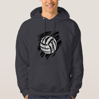 bold volleyball graphic hoodie