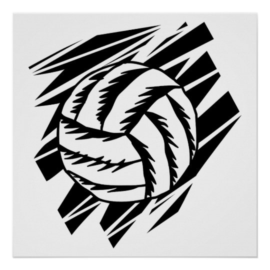 bold volleyball graphic poster