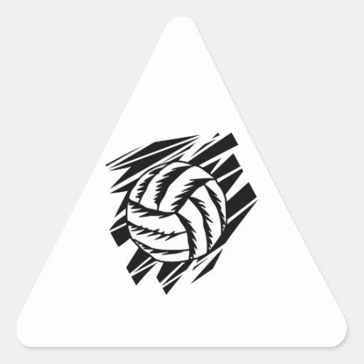 bold volleyball graphic triangle sticker