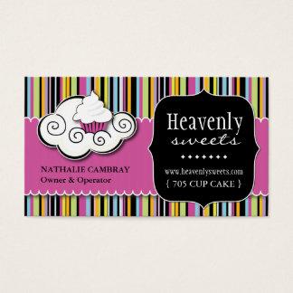 Bold Whimsical Cupcake   Bakery Business Card