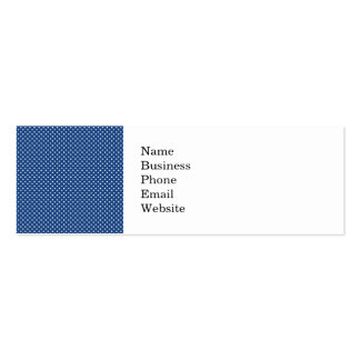 Bold White Circles on Navy Pattern Business Card Template