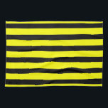 "Bold Yellow and Black Bumble Bee Striped Pattern Kitchen Towel<br><div class=""desc"">Bold Yellow and Black Bumble Bee Striped Pattern</div>"
