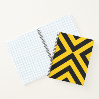 Bold Yellow and Black Chevrons Notebook
