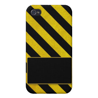 Bold Yellow and Black Stripes for iPhone 4 Cover For iPhone 4