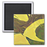 Bold yellow art on a magnet
