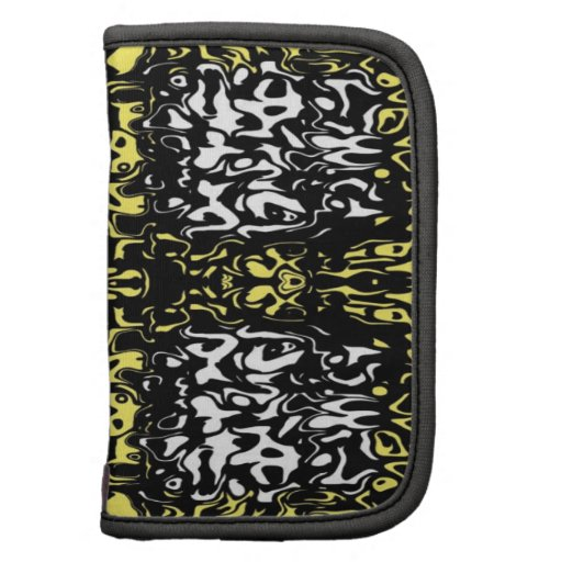 Bold Yellow, Black and White Abstract Folio Planners