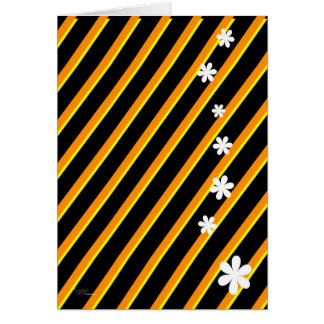 Bold Yellow Flowers Greeting Card