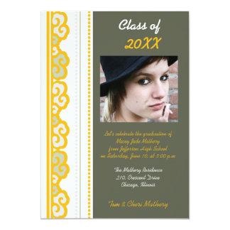 Bold Yellow - Graduation Party invites