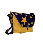 Bold Yellow Stars Rickshaw Messenger Bag
