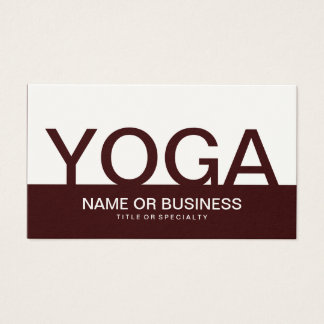 bold YOGA Business Card