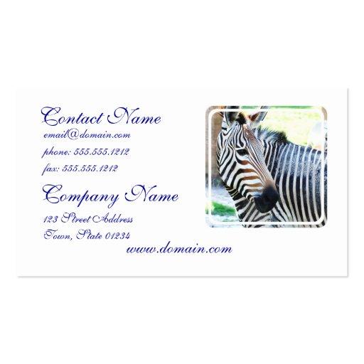 Bold Zebra  Business Cards