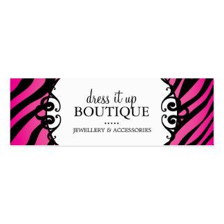 Bold Zebra Print Jewellery Designer Hang Tags Mini Business Card