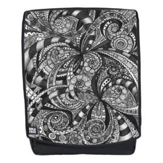 Boldface Backpack Drawing Floral