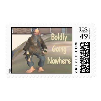 boldly going nowhere postage