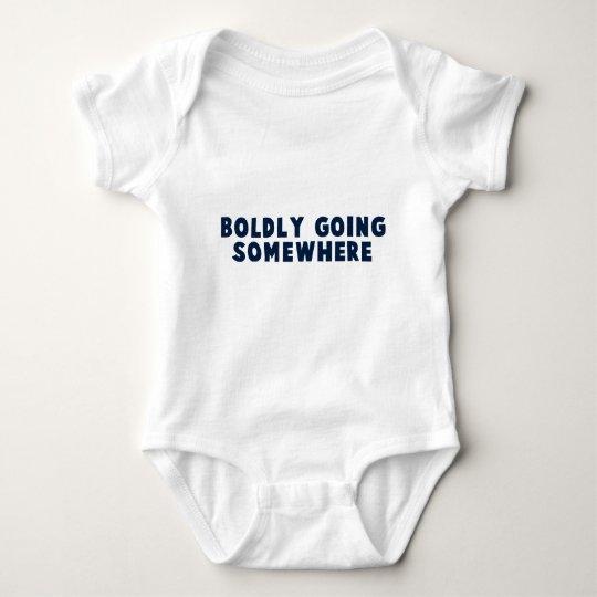 Boldly Going Somewhere Baby Bodysuit