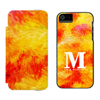 Boldly Monogrammed Summer Abstract Painting iPhone SE/5/5s Wallet Case