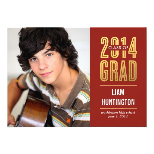 Boldly Proud Graduation Invitation - Red