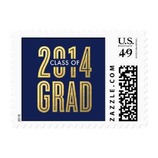 Boldly Proud Graduation Postage Stamp - Navy Blue Stamp