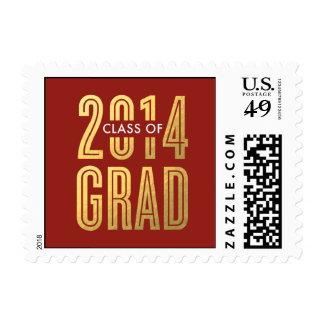 Boldly Proud Graduation Postage Stamp - Red Postage Stamps