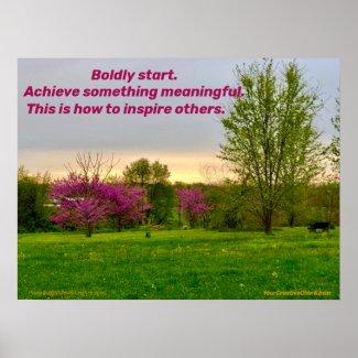Boldly Start. Poster