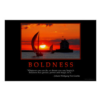 Boldness Poster