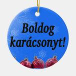Boldog karácsonyt! Merry Christmas in Hungarian bf Ornaments