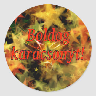 Boldog karácsonyt! Merry Christmas in Hungarian rf Classic Round Sticker