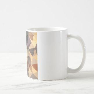 Bole Brown Abstract Low Polygon Background Coffee Mug