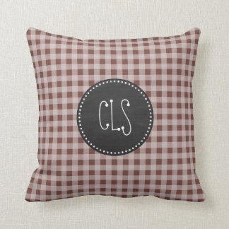 Brown Check Throw Pillows : Gingham Pillows - Decorative & Throw Pillows Zazzle