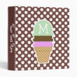 Bole Brown Polka Dots; Ice Cream Binder