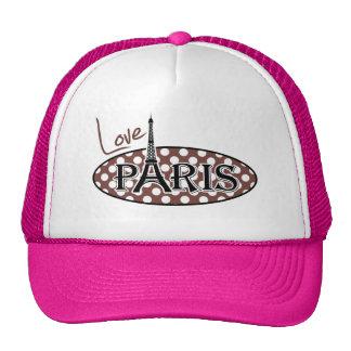 Bole Brown Polka Dots; Paris Trucker Hat