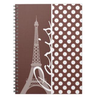 Bole Brown Polka Dots; Paris Notebooks