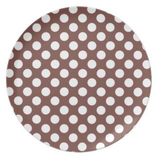 Bole Brown Polka Dots Party Plate