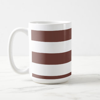 Bole Brown Stripes; Striped Coffee Mug