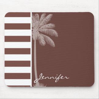 Bole Brown Stripes; Striped; Retro Palm Mousepads
