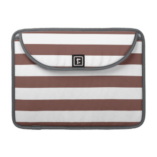 Bole Brown Stripes; Striped Sleeve For MacBook Pro