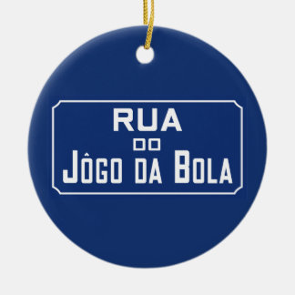 Boleadoras de Rua Jogo DA, placa de calle, Río de Adorno Navideño Redondo De Cerámica