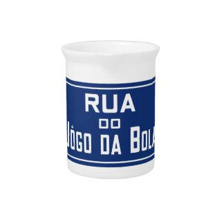 Boleadoras de Rua Jogo DA, placa de calle, Río de Jarrón