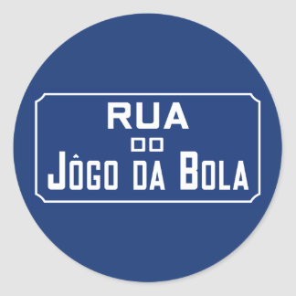 Boleadoras de Rua Jogo DA, placa de calle, Río de Pegatina Redonda