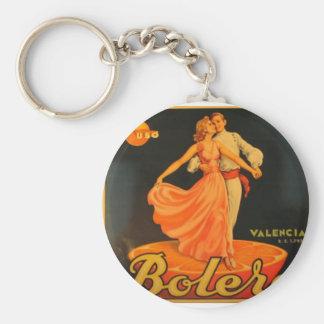 Bolero Basic Round Button Keychain