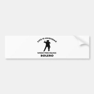 bolero Dance Designs Bumper Sticker