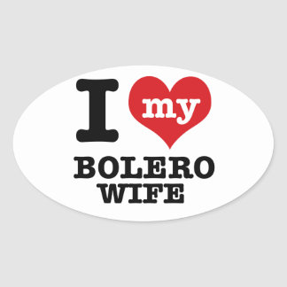 bolero Dance Designs Oval Sticker