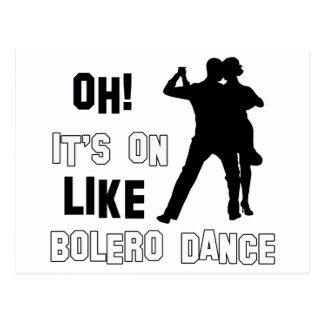 bolero Dance Designs Postcard