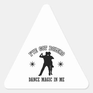 bolero Dance Designs Triangle Sticker