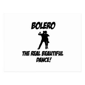 bolero dance postcard