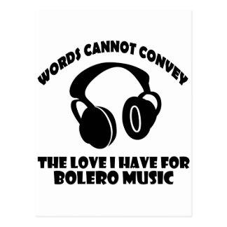 Bolero Music designs Postcard