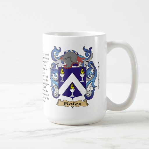 Boles name, the Origin, the Meaning and the Crest Coffee Mug